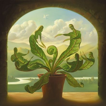 Miracle of Birth. Vladimir Kush. Surrealist Artist. Painting. Modern Contemporary Art. Surrealism.