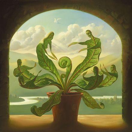 Miracle of Birth. Vladimir Kush. Surrealist Artist. Painting. Modern Contemporary Art. Surrealism.