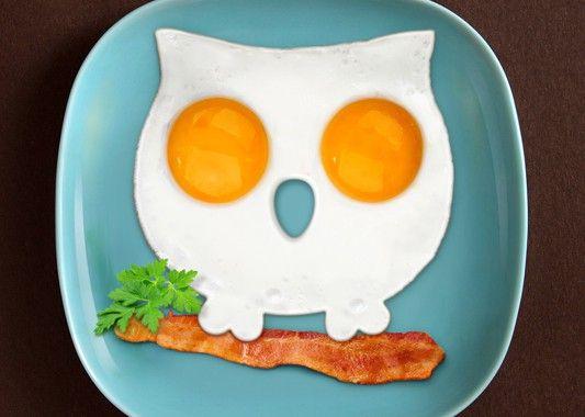 Foremka sowa - pomysł na ciekawe śniadanie :)  #sowa #sniadanie #pomysł #foremka #kuchnia #jajka #sprzedam