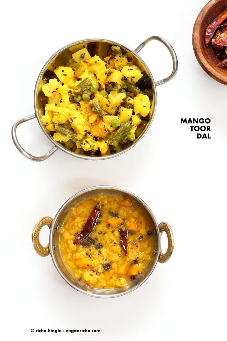 Indian Mango Dal. Toor Dal with unripe or ripe mango and 6 ingredients. Easy 1 pot soup or side. Vegan Indian Dhal Recipe Gluten-free Soy-free