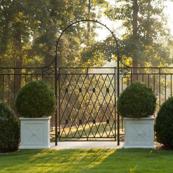 Iron fence around pool for kiddo safety