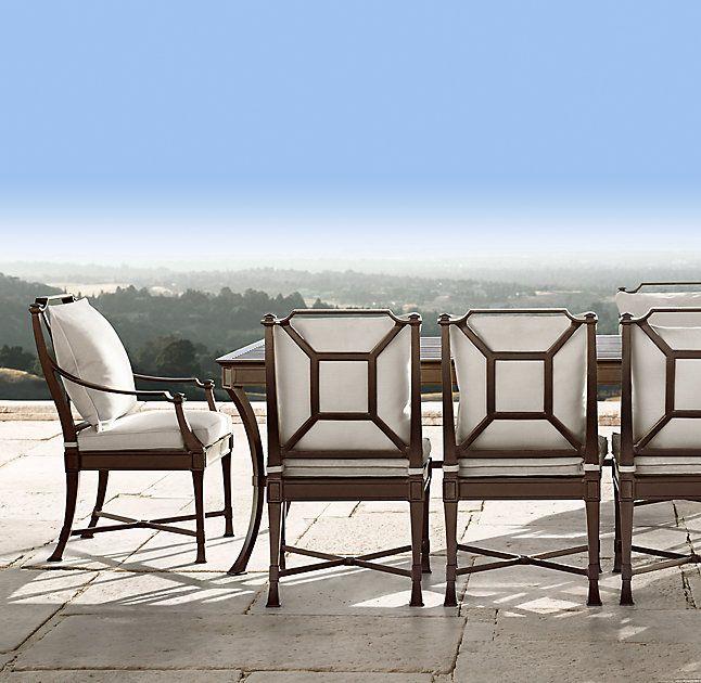 mediterranean outdoor furniture. rhu0027s antibes rectangular dining tableimpeccably made outdoor furniture rendered in rustproof cast aluminum captures mediterranean a