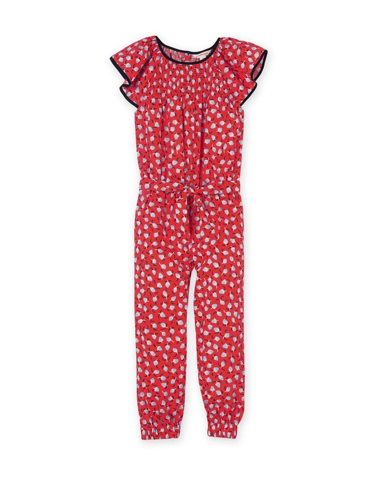 Red Print Jumpsuit