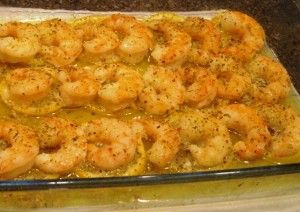 Lemon and Butter Baked Shrimp I used frozen cooked shrimp, 3 Tbsp butter