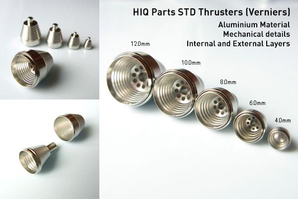 HIQ Parts Metal Thrusters for Gundam Customization