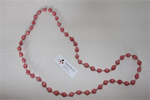Paper Bead Jewellery : Made by Saida who learnt this technique through her mother who lives in a refugee camp in Tanzania