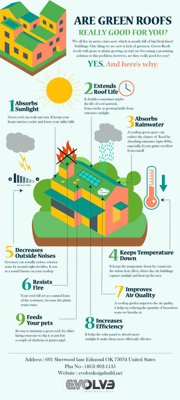 Benefits Of Green Roofs Infographic Best Infographics Green