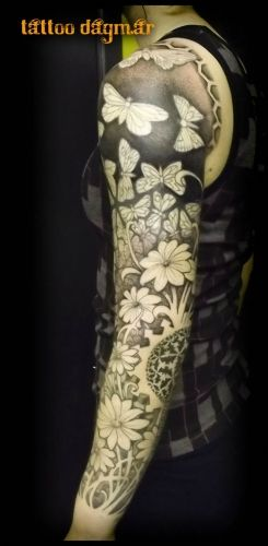 Flower Tattoo - Tattoo Dagmar - Roeselare - I see myself leaning closer and closer to a sleeve ...