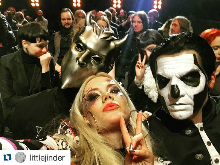 papa emeritus and the nameless ghouls. blackened-featherz: \u201calpha and papa with little jinder oh my god \u201d. see more. ghost, nameless ghoul emeritus the ghouls