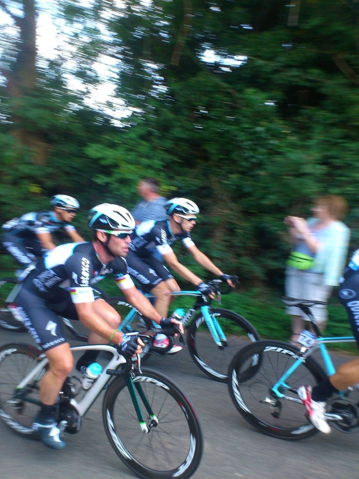 The Tour of Britain 2014 passed through the Cotswolds village of Snowshill this year - here's famous British cyclist Mark Cavendish as he whizzed past! (Image copyright Chris Heneghan, used with permission)