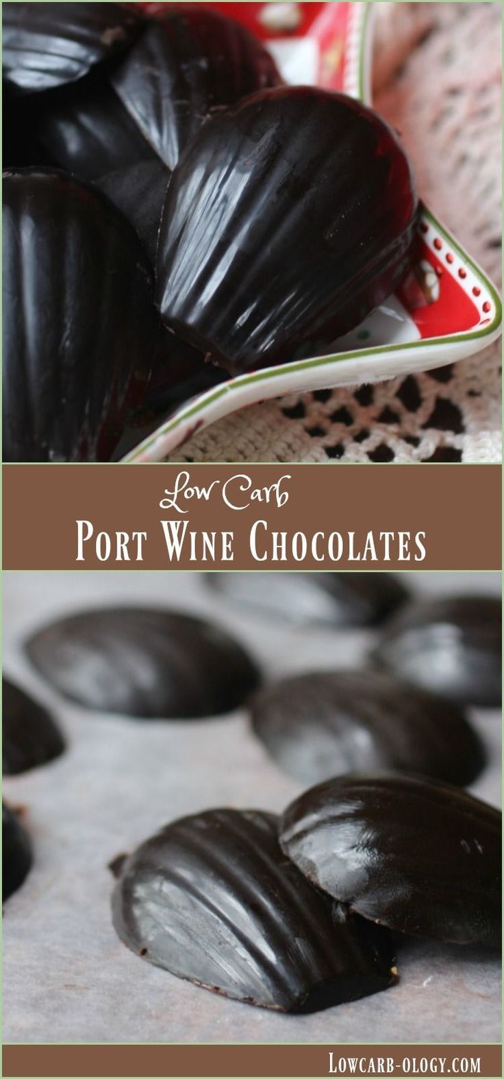I love these easy, low carb port wine and dark chocolate fat bombs! Just 0.4 net carbs each! From http://Lowcarb-ology.com
