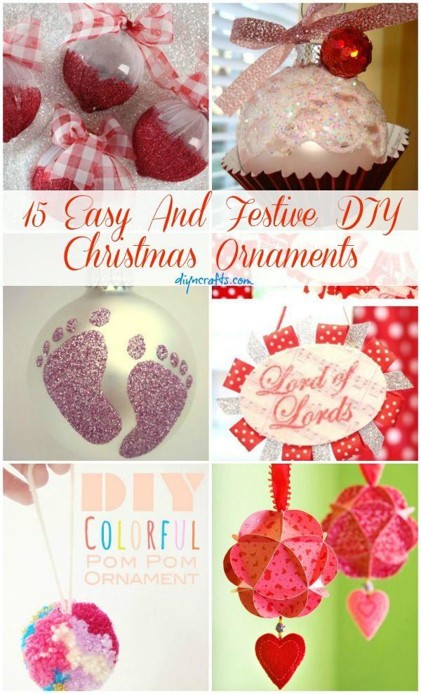 15 Easy And Festive DIY Christmas Ornaments – DIY & Crafts