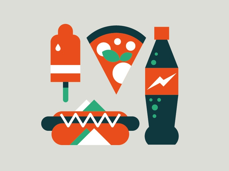 Fast food by dribbble
