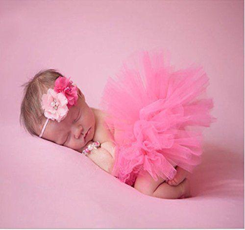 Musuntas Bébé Prop Photographie, costume de bébé, photo Photographie vêtements costume bébé jupe tutu Pettiskirt Filles Fleur Bandeau ( Se…