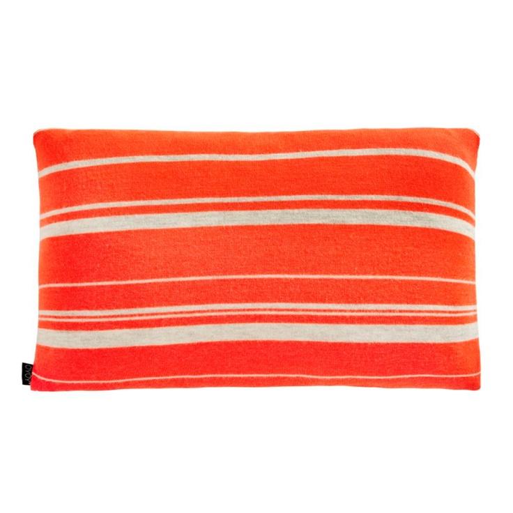 Stripy cushion neon
