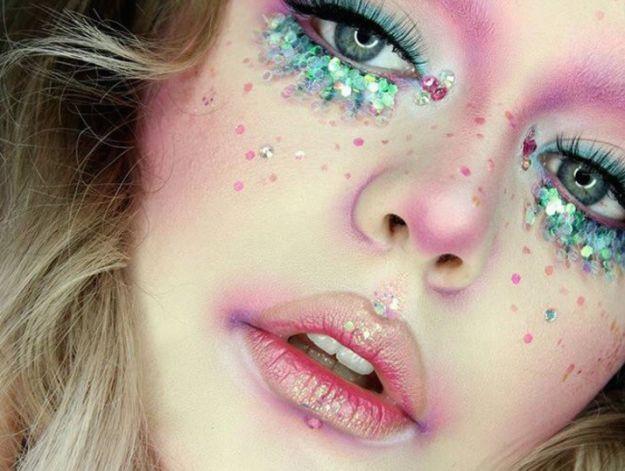maquillaje escamas