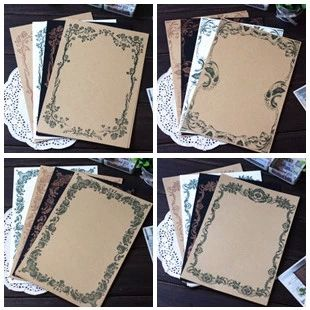 Cheap flower writing paper, Buy Quality writing paper stationery directly from China writing paper Suppliers: 8 PCS/LOT Vintage Mixing Style Flower Writing Paper Stationery School Office Supplies