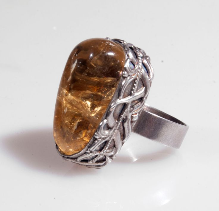 A413 Romantic ring with citrine,citrine ring,silver ring,handmade jewelry,statement ring ,silver jewelry,engagment ring by Artseko on Etsy