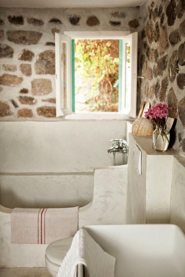 Bijou bathroom my scandinavian home: The Greek island home