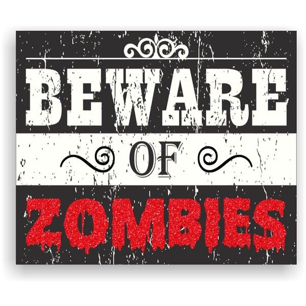 Sixtrees Black/White/Red Beware of Zombies Wall Art ($9.97) ❤ liked on Polyvore featuring home, home decor, wall art, etc, halloween, other, black white red, filler, red black white home decor and red home decor