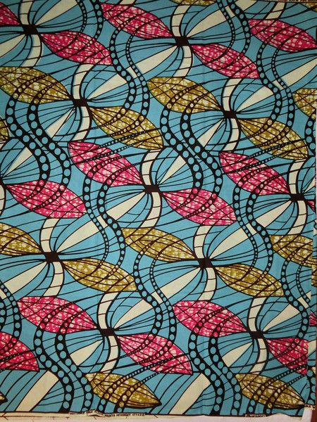 afrikanischer Batik-Stoff - Kokoa von Perlen.Schmuck.Edles auf DaWanda.com