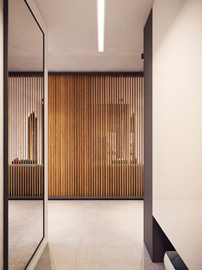 D corer un salon avec un tapis et coussins color s cloison bois decoration salon cloisons - Decorer un salon ...
