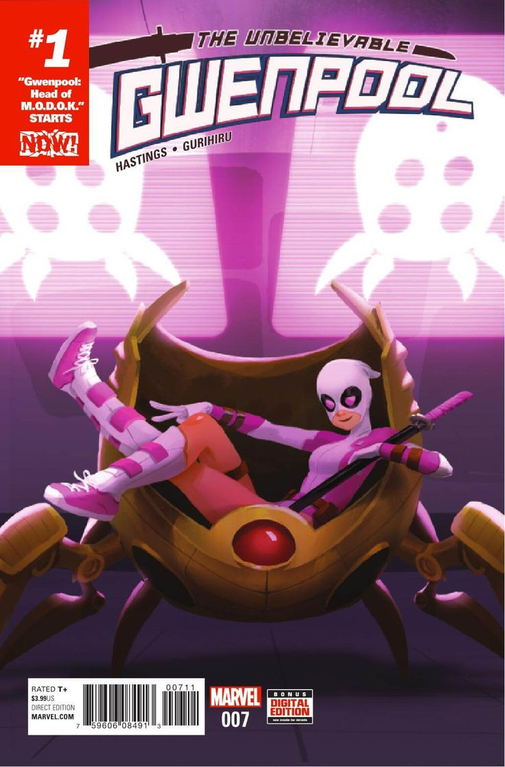 "Preview: Gwenpool #7, Story: Christopher Hastings Art: Gurihiru Cover: Helen Chen Publisher: Marvel Publication Date: October 12th, 2016 Price: $3.99     ""HEA...,  #All-Comic #All-ComicPreviews #ChristopherHastings #Comics #Gurihiru #Gwenpool #HELENCHEN #Marvel #previews"