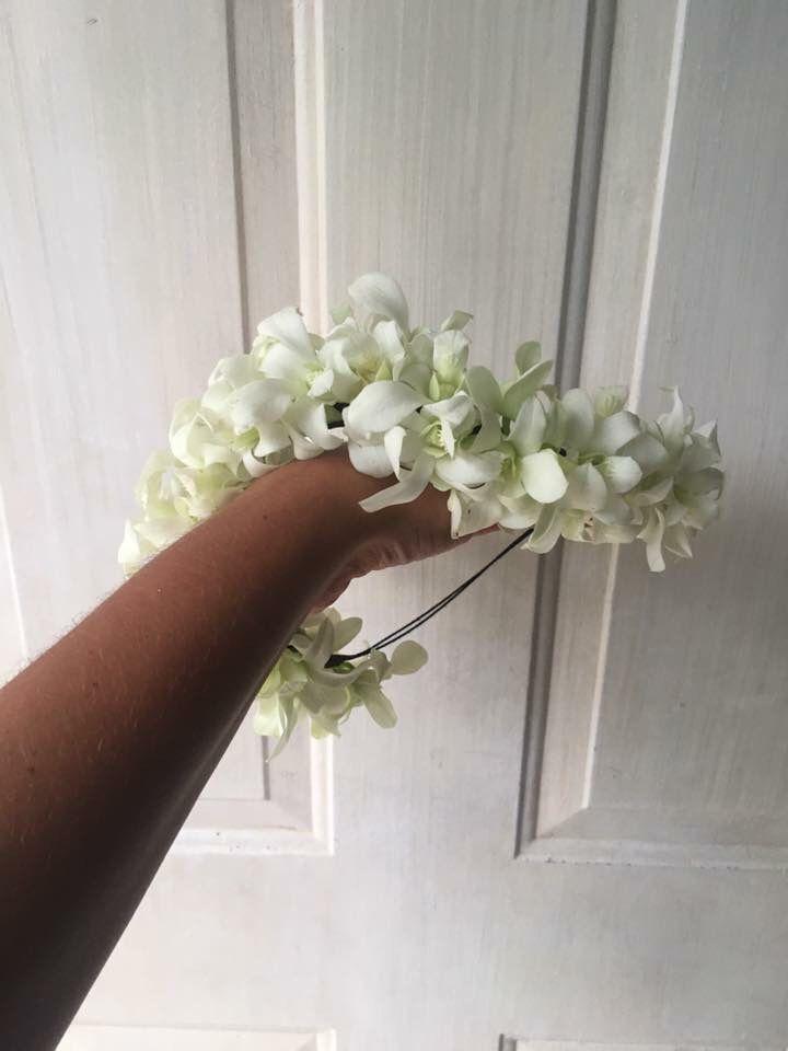 CBP165 Weddings Riviera Maya dendrobium flower crown / coronas de dendrobium flores