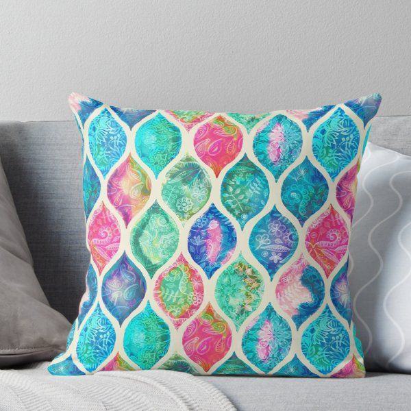 Watercolor Ogee Patchwork Pattern