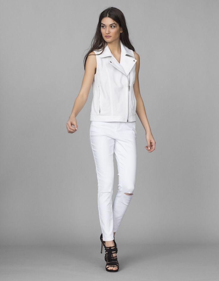 Jeans super skinny rotos | Blanco