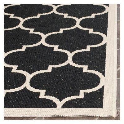 Malaga 2' X 3'7 Outdoor Patio Rug - Black / Beige - Safavieh, Black/Beige