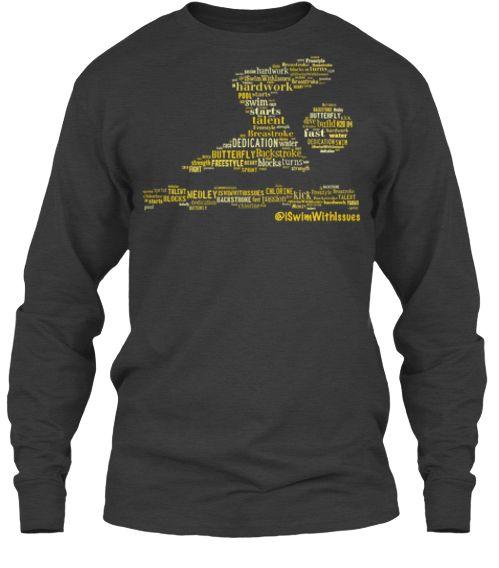 Swim swimming t-shirt with words