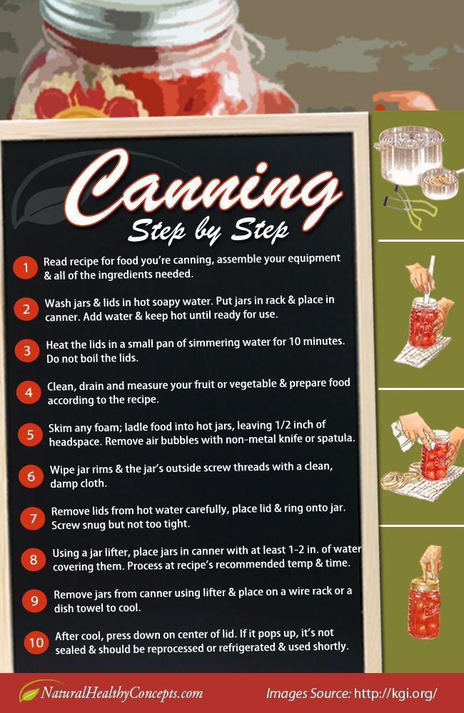 Canning Step by Step | Canning, Food Preservation and  Food Storage Ideas by Survival Life http://survivallife.com/2014/04/02/guide-canning-canning-jars/