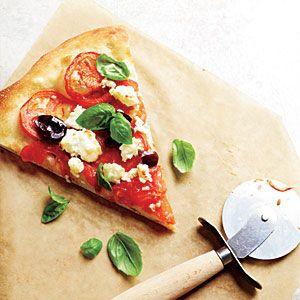 Tomato, Basil, Feta And Garlic Pizza Recipes — Dishmaps