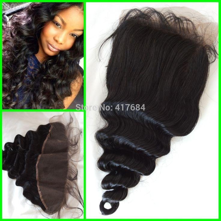 Толстый волос плотность 130% - 150% натуральная бразильский человеческий волос полный вручную связали кружево фронтальной крупная волна пробор средний часть 3 часть