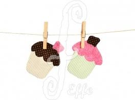 Sottotazza in stoffa a forma di muffin - fatto a mano da Effe Cremona! http://www.effecremona.it