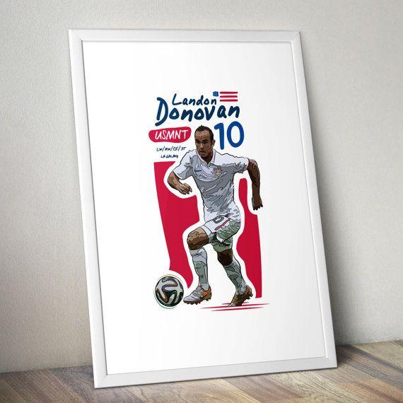 Landon Donovan USA USMNT LA Galaxy Print by KieranCarrollDesign