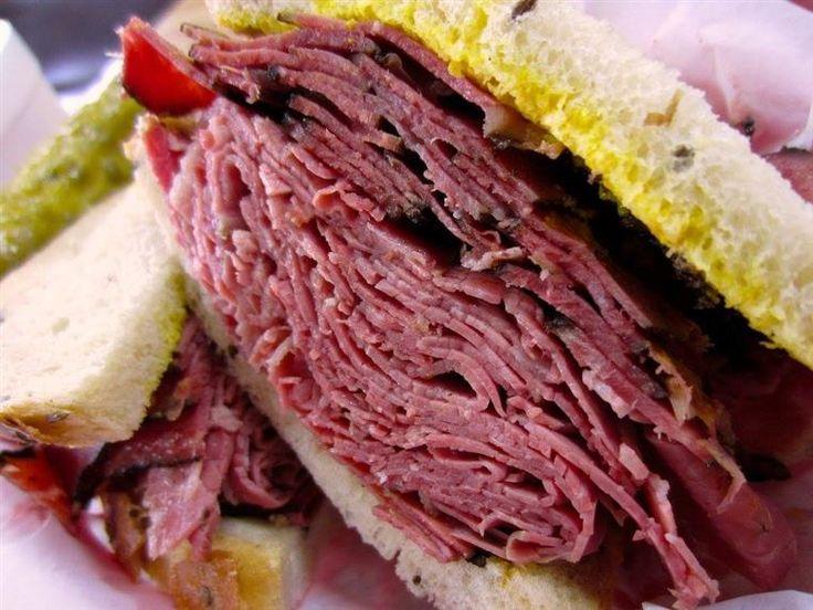Triple Decker Pastrami Sandwich