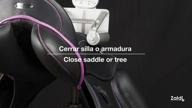 Máquina abre-cierra sillas de montar y armaduras Zaldi (Video explicativo). A veces es necesario adaptar una silla de montar a una medida distinta a la original, para ello tenemos a la venta nuestra máquina Zaldi de abrir/cerrar armaduras con la cual puede adaptar la medida al caballo si este hubiera cambiado morfológicamente o fuera otro caballo distinto. Siempre al comenzar con esta máquina, es recomendable asesorarse por un experto. Machine open-close Zaldi saddles & tree -Explanatory…