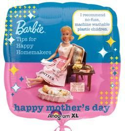 Mother's Day Balloons - 18'' Barbie Humor Mom's Day - Flat (5ct)
