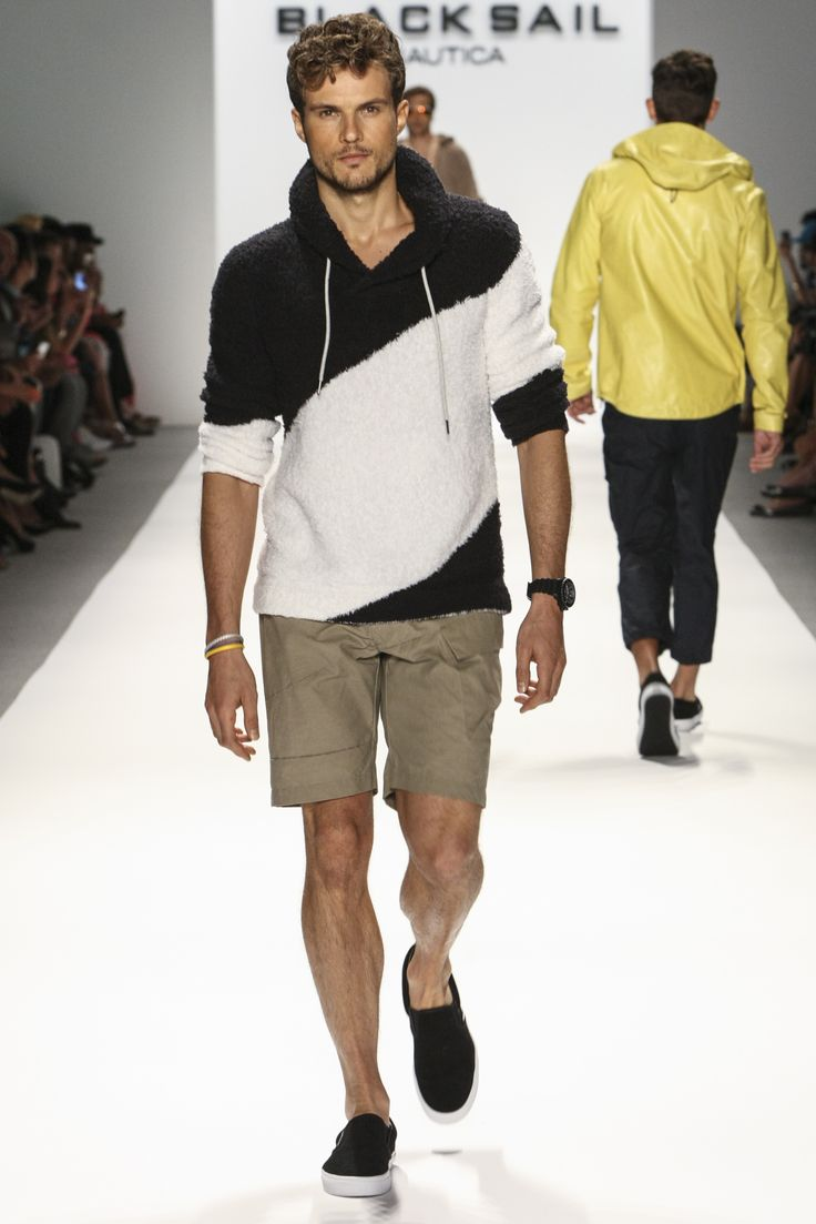Nautica Men's Spring 2014 Black Sail Fashion Show Nautica Spring Black Sail