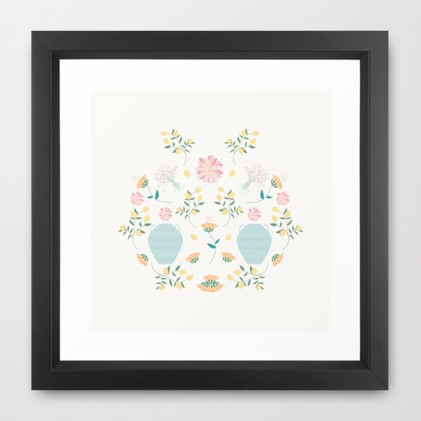 Italian garden composition Framed Art Print by Valeria Frustaci | Society6