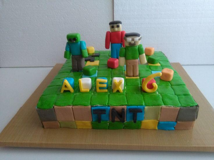 Dort marcipánový ♥ narozeninový - Minecraft.