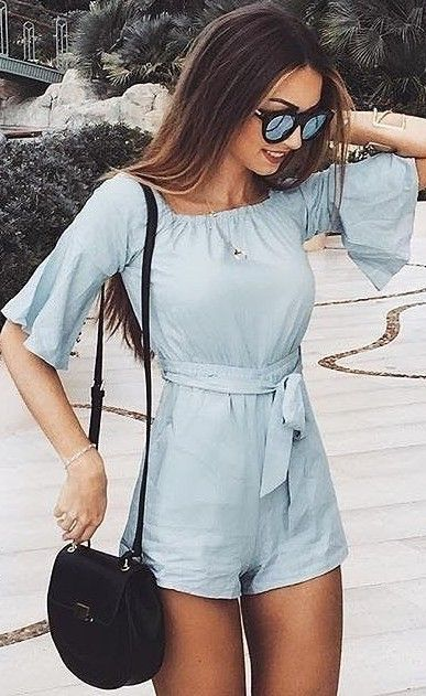 #fall #trending #outfits |  Chambray  'Against The Tide' Playsuit
