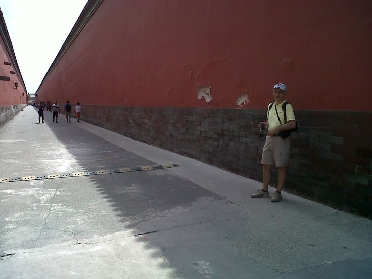 GiGi and the red wall