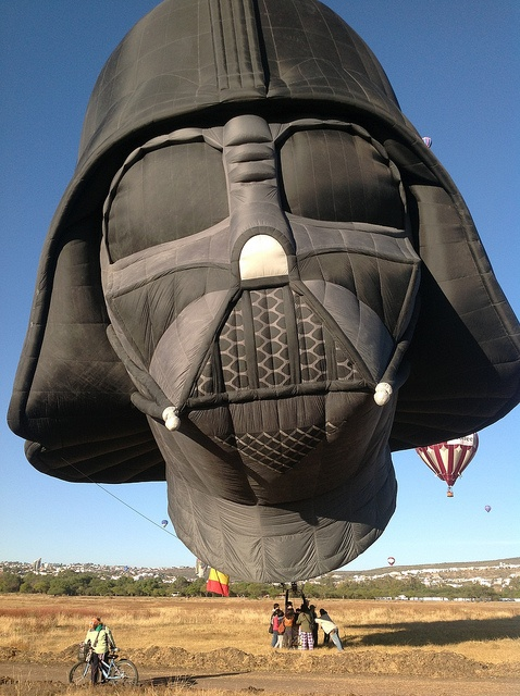 Darth Vader Hot Air Balloon- a perfect combination of my love for Hot Air Balloons and Star Wars!