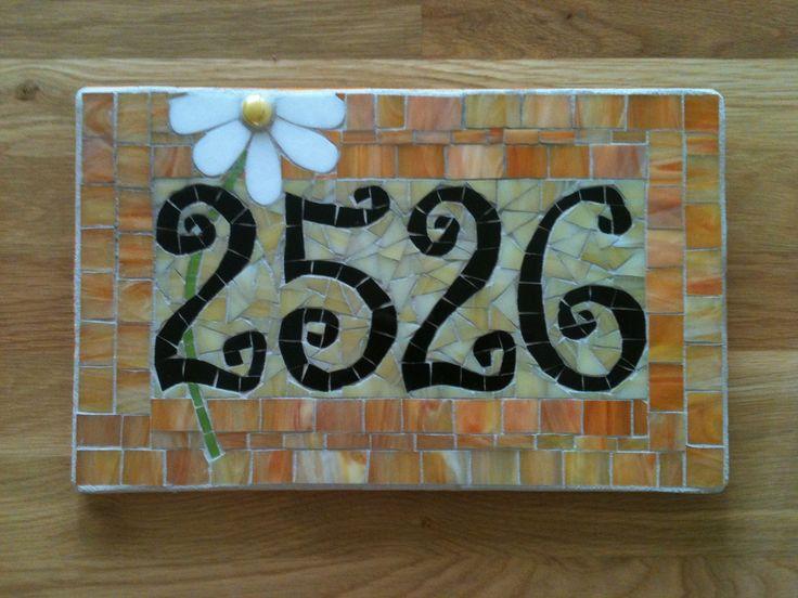 Image detail for -Custom Mosaic Address Plaque by melissaforcier on Etsy