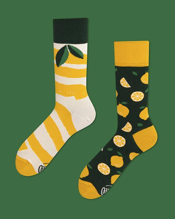 The Lemons | men socks | colorful socks | cool socks | mismatched socks | womens socks | unique socks | patterned socks | crazy socks