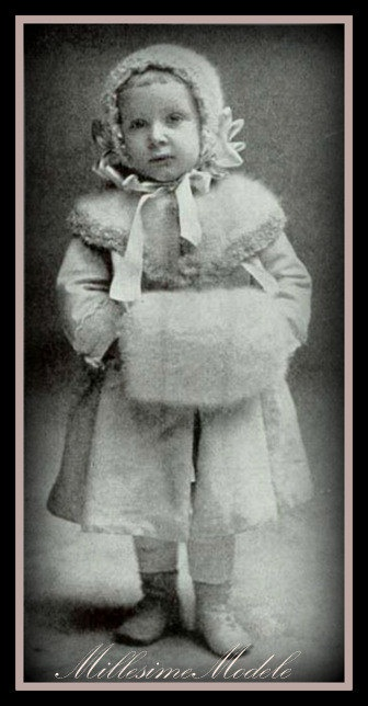 Edwardian. Child's cape and muff.