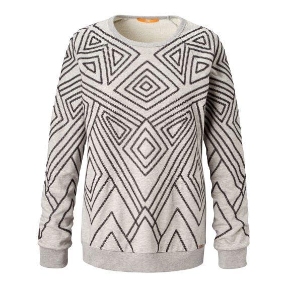 Sweatshirt, grafisches Muster, Rundhals